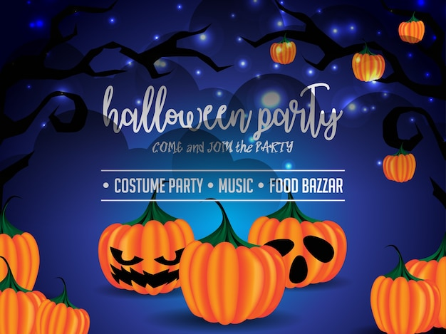 Happy halloween poster illustration