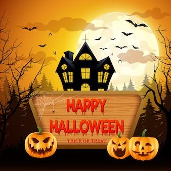 Happy halloween.vector illustration