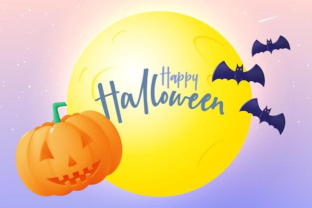 Happy halloween vente saisonnière bannière fond coloré vector illustration