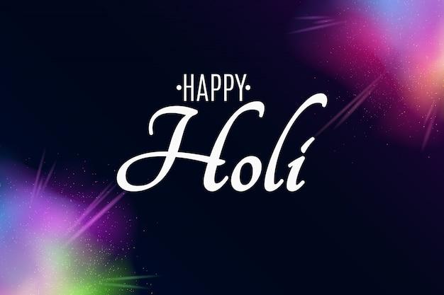 Happy holi. explosion de couleurs. spray multicolore. poussière de brouillard colorée.