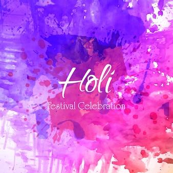 Happy holi illustration vectorielle avec gulal coloré