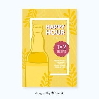 Happy hour affiche avec une fête