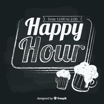 Happy hour lettrage au tableau