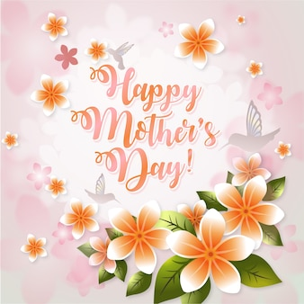 Happy mother's day background desgin
