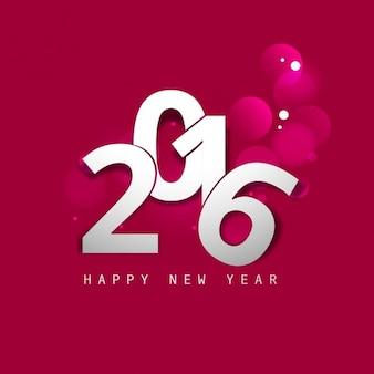 Happy new year 2,016 fond