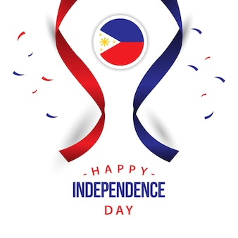 Happy philippines independent day design de modèle de vecteur
