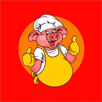 Happy pig chef