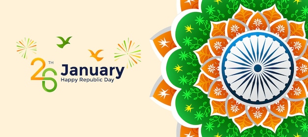 Happy republic day indian 26 janvier