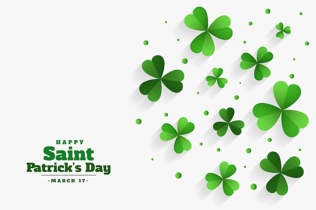 Happy st patricks day trèfle feuilles vertes fond
