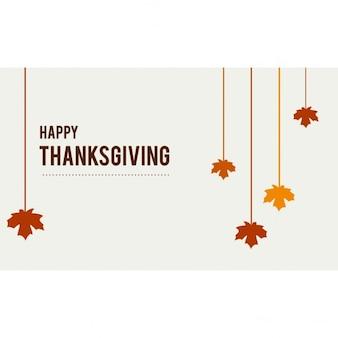 Happy thanksgiving feuilles suspendues
