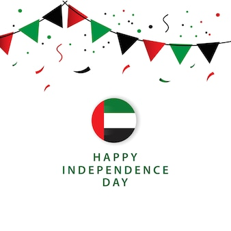Happy uae independent day design de modèle de vecteur