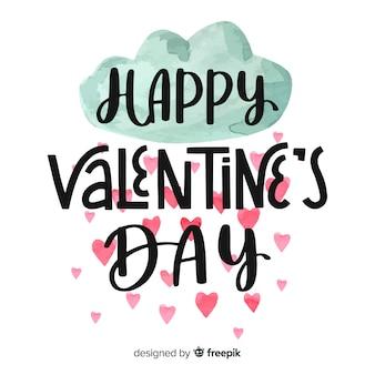 Happy valentin's lettering