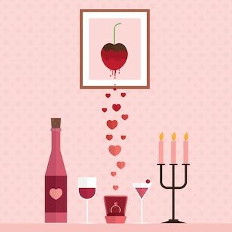 Happy valentine day design background illustration vectorielle