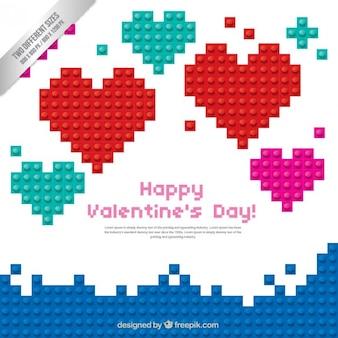 Happy valentine pack de coeurs de jour