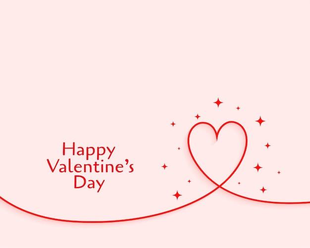 Happy valentines day coeur pétillant minimal