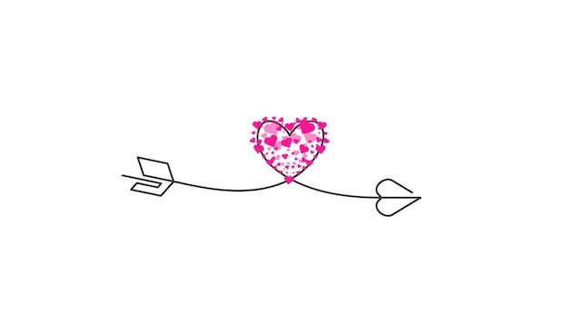 Happy valentines day lettrage isolé sur fond blanc vector illustration lettres dessinés à la main c...