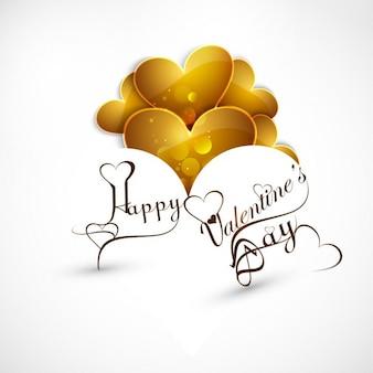 Happy valentines jour fond brillant