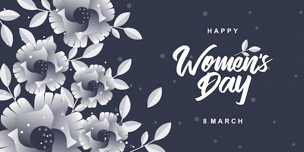 Happy womens day avec des fleurs