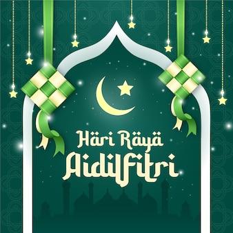Hari raya aidilfitri design de publication sur les médias sociaux