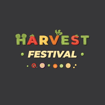 Harvest festival - lettrage