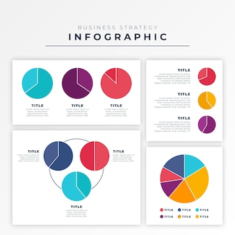 Harvey ball diagrams infographic in flat design