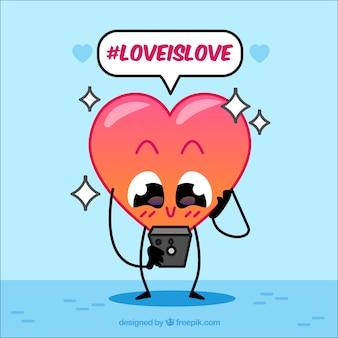 Hashtag design avec coeur