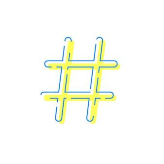 Hashtag pour réseau social ou internet
