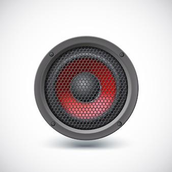 Haut-parleur audio isolé sur fond blanc. illustration vectorielle, eps10