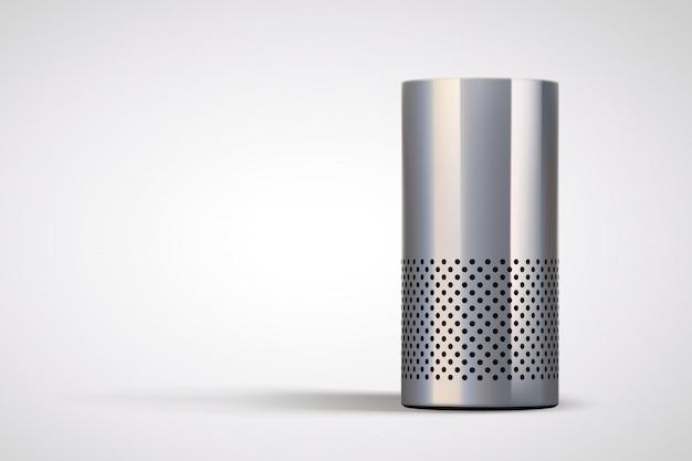 Haut-parleur intelligent sur gris