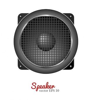 Haut-parleur sonore de vecteur, icône de haut-parleur