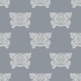 Hawaii idole de bois vectoriel continu motif géométrique de répétition pour tout web design