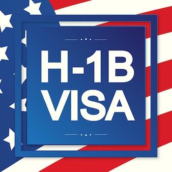Hb visa usa page pour le visa de classe r type hb travail temporaire pour les travailleurs illustration vecteur eps