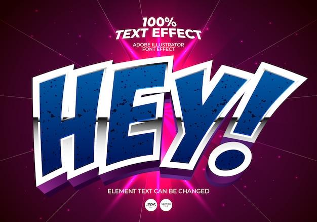 Hé effet de texte