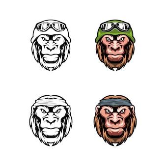 Head lion avec bonnet et lunettes