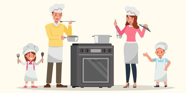 Héhé, cuisiner ensemble.
