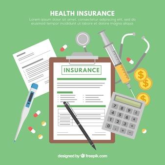 Helath éléments d'assurance et outils médicaux