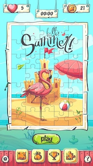Hello summer puzzle l'écran principal de plaing