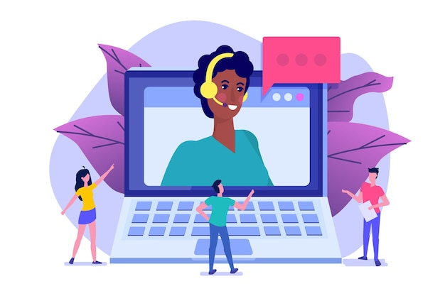 Help desk, avatar de consultants de centre d'appels.