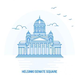 Helsinki senate square blue landmark