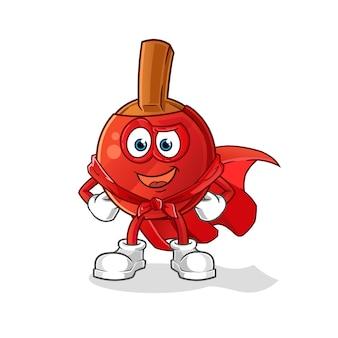 Héros de batte de tennis de table. personnage de dessin animé
