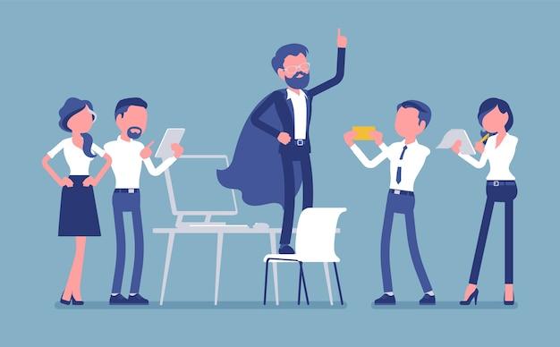 Héros de bureau admiré par ses collègues