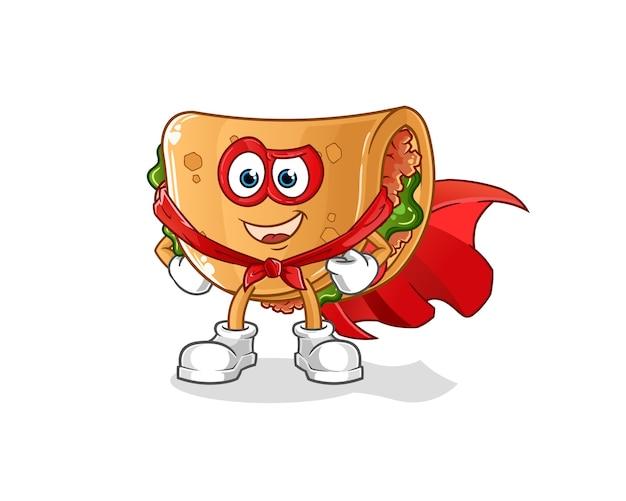 Héros de burrito. personnage de dessin animé