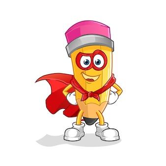 Héros de crayon. personnage de dessin animé