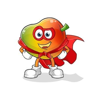 Héros de la mangue. personnage de dessin animé