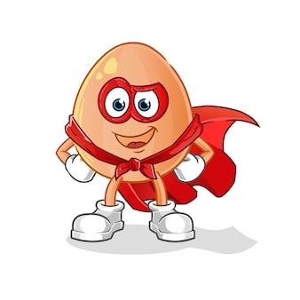 Héros d'oeuf. personnage de dessin animé