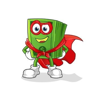 Héros de pop corn. personnage de dessin animé