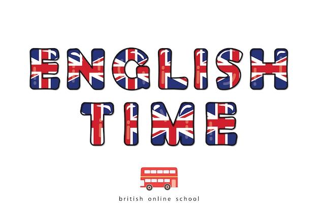 Heure anglaise. école de langue en ligne.