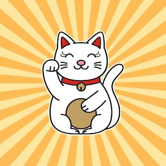 L'heure du café. illustration de chat mignon
