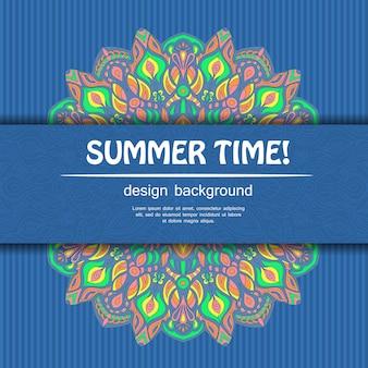 Heure d'été avec la conception de mandala. l'origine ethnique.