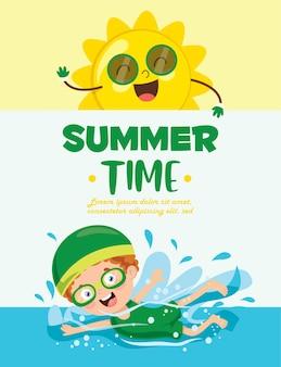 Heure d'été avec les enfants